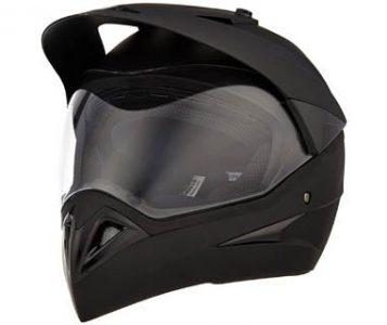 Studds Motocross Plain SUS_MVPFFH_MBLKL Full Face Helmet