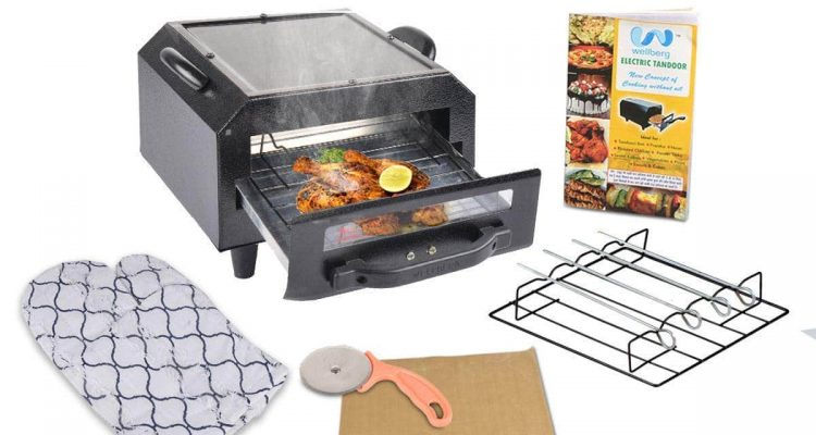 Wellber Iron 2 in 1 best Electric Tandoor for home