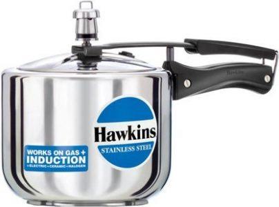 Hawkins Stainless Steel Tall 3 liters Pressure Cooker